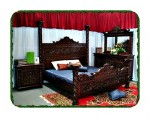 Set kamar tidur ukir modern
