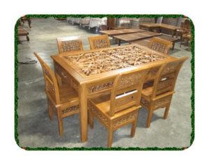 Set kursi meja makan kartini