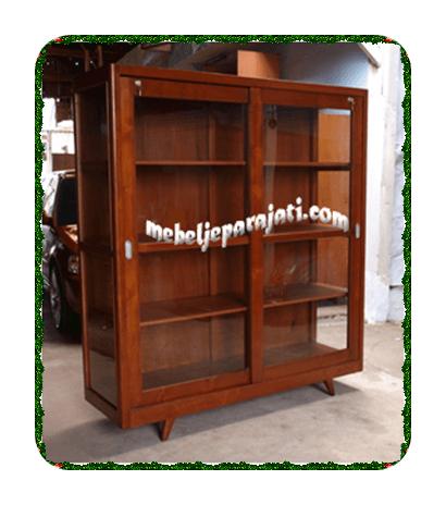mebelLemari-buku-kaca-pintu-sliding-door-minimalisjepara