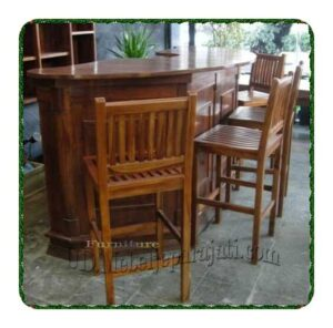 Partisi minimalis meja bar cafe