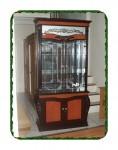 Lemari pajangan kristal 2 pintu kayu jati