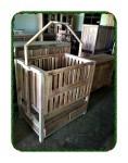 Box bayi minimalis / ayunan box bayi kayu jati
