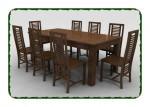 Kursi meja makan minimalis jati