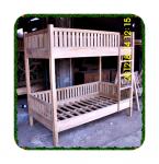 Tempat tidur tingkat untuk anak kayu jati minimalis