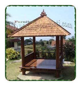 Gazebo kayu kelapa model minimalis