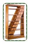 Rak buku minimalis kayu jati