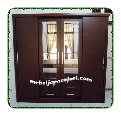 mebelLemari-pakaian-minimalis-4-pintu-jatijepara