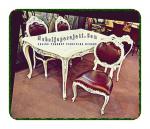 Kursi meja makan sofa klasik