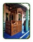 Mimbar Kayu >Mimbar Masjid Jati
