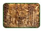 Seni rupa ukir kayu relief