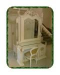 Meja rias ukir klasik kayu