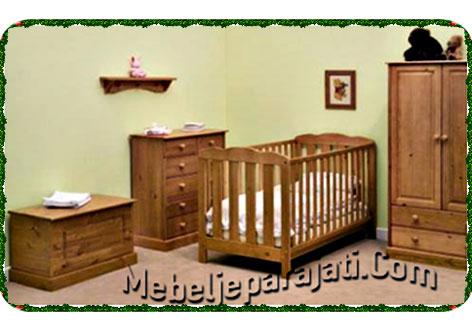 set-ranjang-bayi-jati