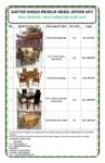 Daftar harga kursi makan