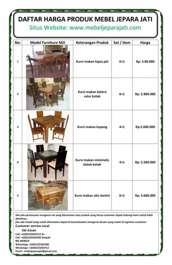 daftar-harga-kursi-makan-set
